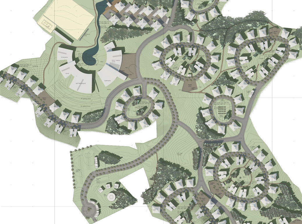 Urban Planning Design For Residential Area And Buildings