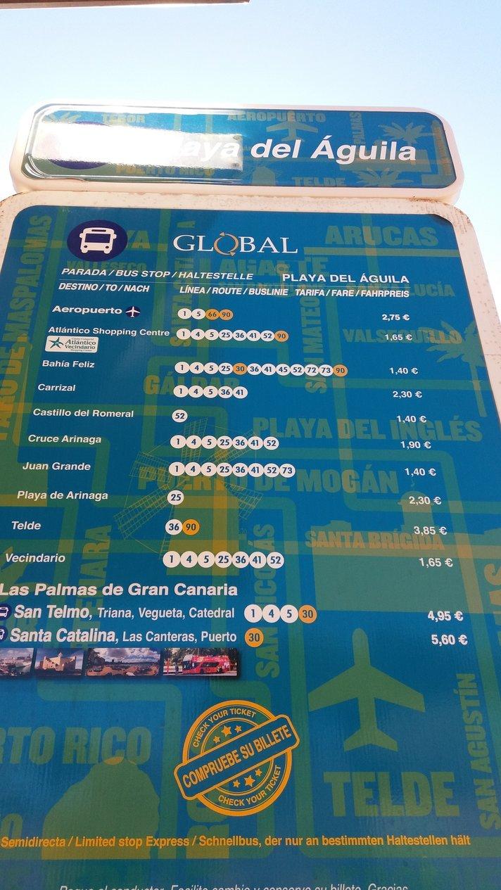 Bussit – Playa del Agila<br />