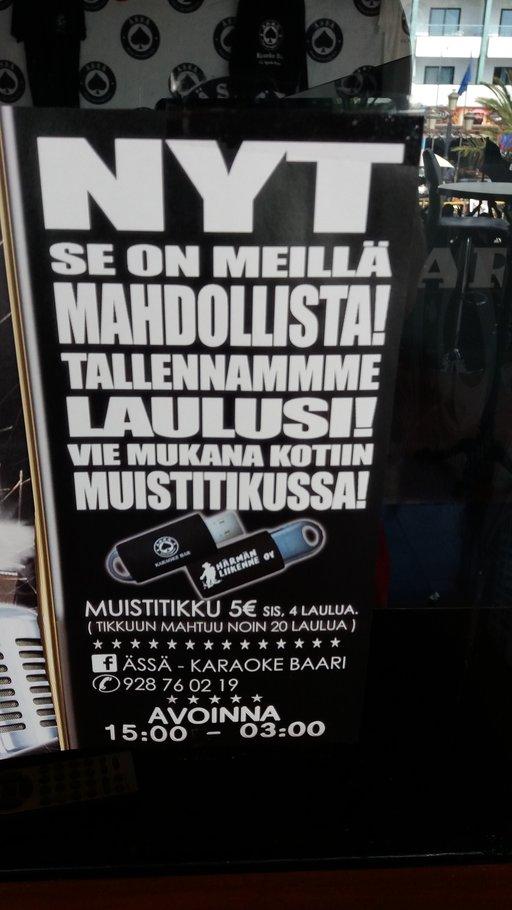 Suomipaikat - Ässäkaraokebaari Gran Canaria