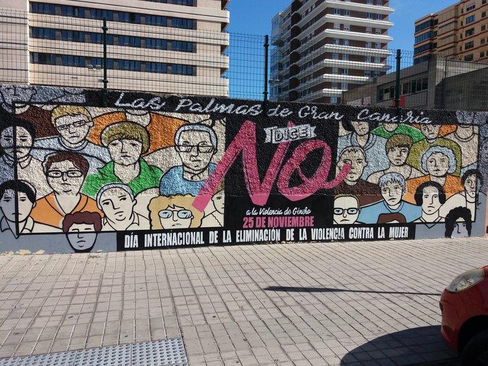 Graffitit - Las Palmas: Naisiin kohdistuva väkivalta