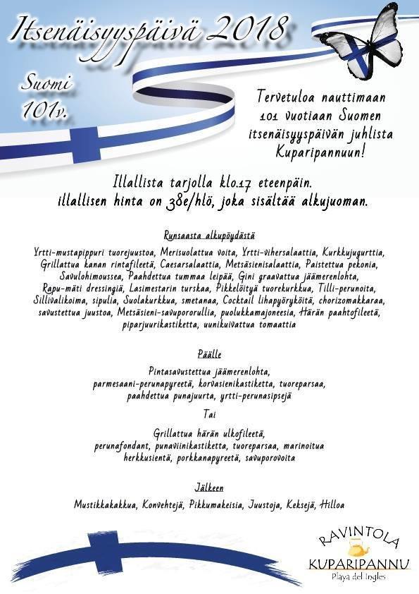 Suomipaikat - Kuparipannun itsenäisyyspäivän illallinen