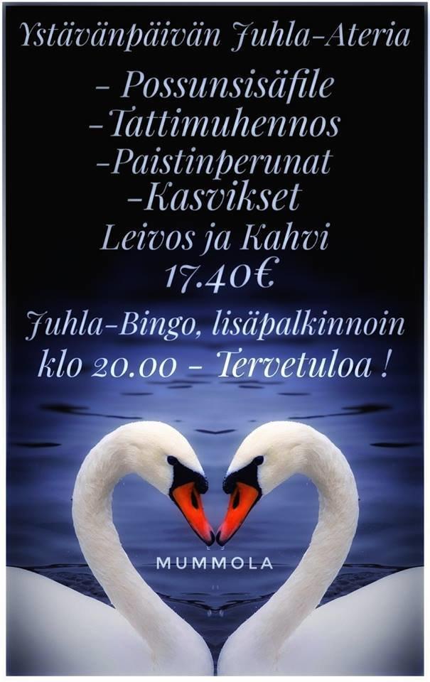 Suomipaikat - Mummolan Ystävänpäivän menu