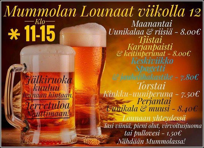 Suomipaikat - Mummolan lounaat tulevalle viikolle