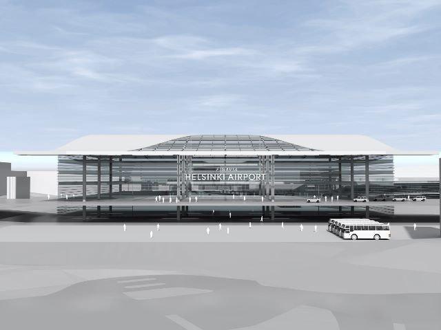 Helsinki-Vantaan lentoasema laajenee yhden katon alla