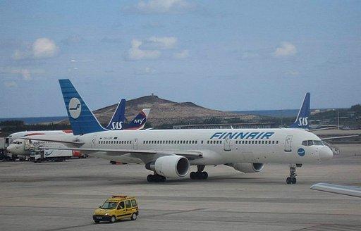 Lentojen aikataulutiedot Helsingissä ja Las Palmasissa
