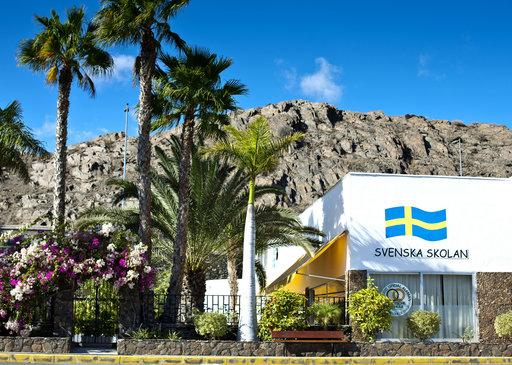 Suomikoulu toimii ruotsalaisen koulun tiloissa San Agustinissa.