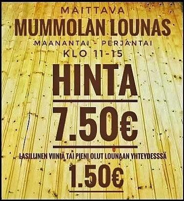 Suomipaikat - Mummolan lounaat viikolla 50