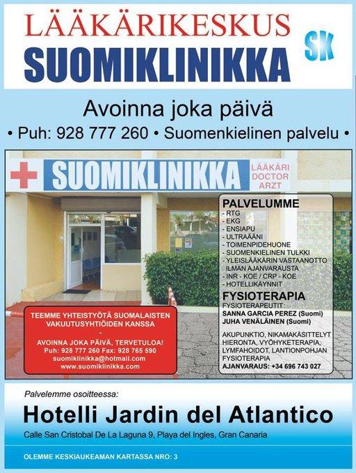 Suomiklinikan tärkein kohderyhmä on suomalaiset