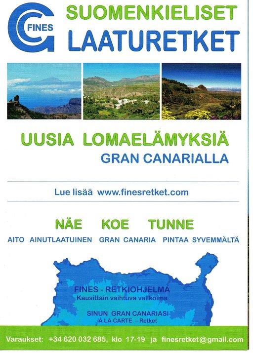 FINES - suomenkieliset laaturetket Kanarialla Gran Canaria