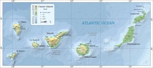 Kanariansaarten kartat