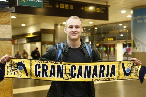 Suomalaiskoripalloilija Sasu Salin pelaa loppukauden Gran Canarialla