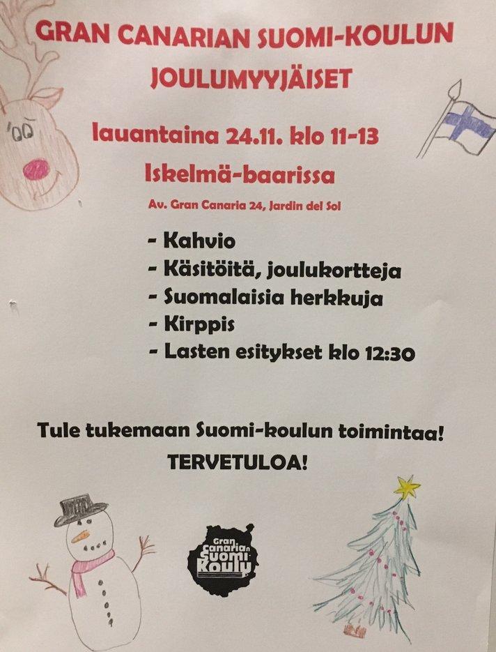 Yleistä - Gran Canarian Suomikoulun myyjäiset 24.11.2018