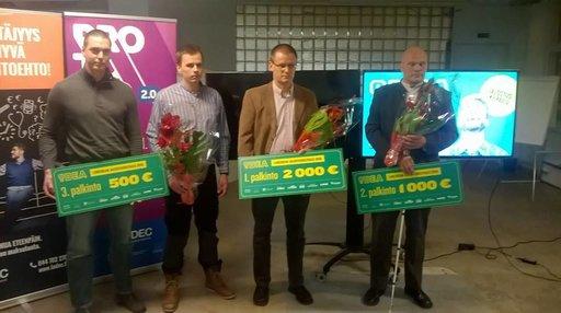 Teijo esitteli joulukuussa Suomessa innovaationsa Jalostus-kilpailun finaalissa (Lahden Seudun Kehitys LADEC Oy:n, Jalo Paanasen ja Mediatalo ESAn kanssa yhteistyössä järjestämän Liikeidean Jalostuskilpailu), jonne kilpailun suojelijana tuttuun tapaan toiminut sarjayrittäjä Jalo Paananen valitsi 30 hakijatahosta 7 parasta finaaliin. Finaalissa palkittiin kolme parasta innovaatiota - Teijo tuli toiseksi!