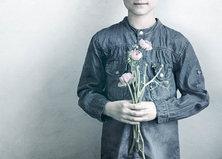 Kukkakortti, sininen