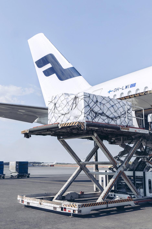 Finnair valmistautuu korona-<br /> rokotteiden rahtaamiseen