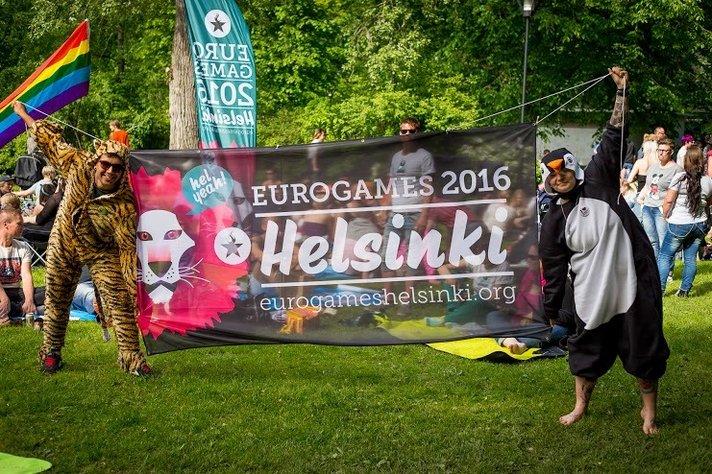 Gay-urheilijat valtaavat<br /> Helsingin kes&auml;kuussa
