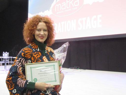 Hotellinjohtaja Saimi Hoyer sai vuoden 2017 matkailuhenkilö-palkinnon.