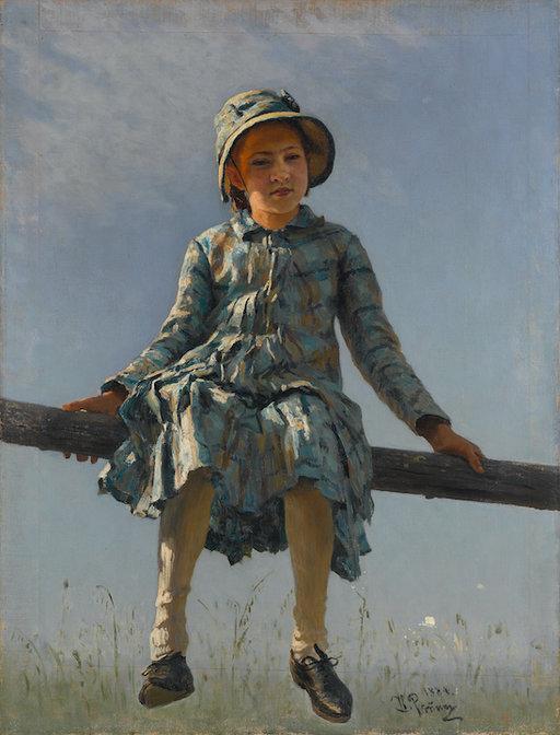 Ilja Repin: Pyryharakka (Taiteilijan tyttären Vera Repinan muotokuva) (1884). Tretjakovin galleria. © Tretjakovin galleria, Moskova