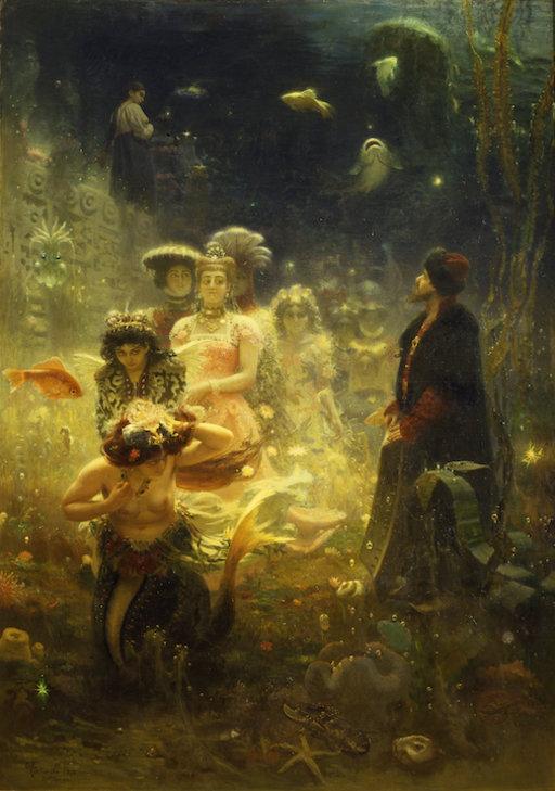 Ilja Repin: Sadko vedenalaisessa valtakunnassa (1876). Venäläisen taiteen museo. © Venäläisen taiteen museo, Pietari
