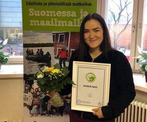 Vuoden hostellireissaajaksi<br /> valittiin Jasmin Ngo