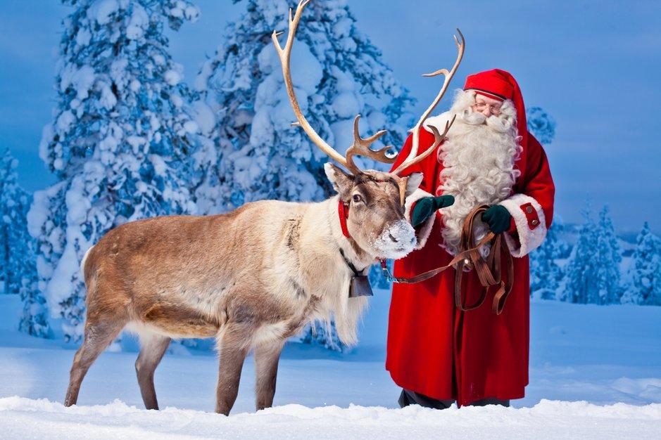 Tänä vuonna Joulupukki lähtee matkaan virtuaalisena. Kuva: Visit Rovaniemi