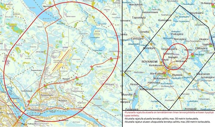 Kopterikameran k&auml;ytt&ouml;<br /> kielletty lentoalueilla Helsinki