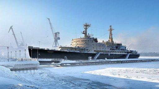 Jäänmurtaja Lenin Murmanskissa on maailman ensimmäinen ydinvoimalla toiminut jäänmurtaja.