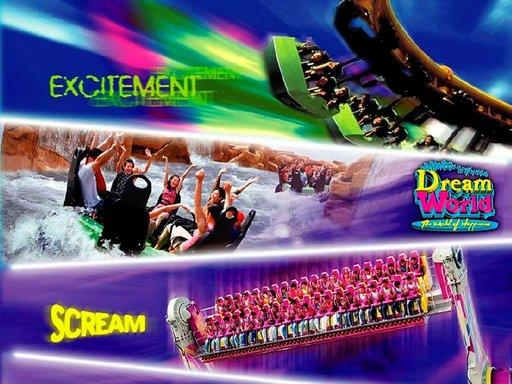 Dreamworld on hehtaaripuisto, jossa riittää hämmästeltävää.