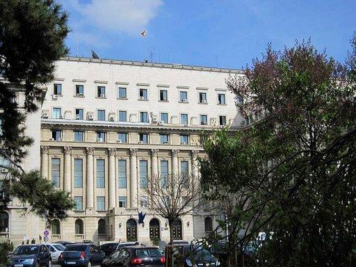 Kommunistisen puolueen Keskuskomitean rakennuksen parvekkeelta Ceausescu aloitti viimeisen puheensa ja josta hän pakeni helikopterilla joulun alla vuonna 1989.