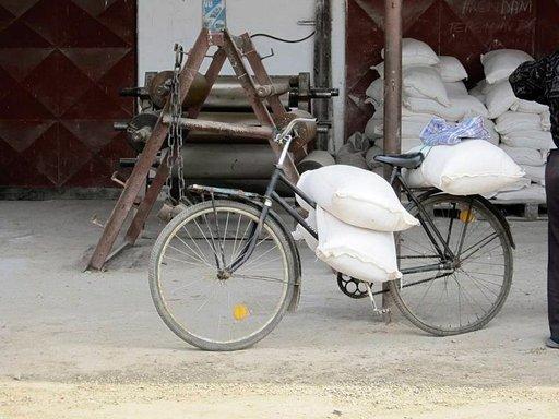 Myllykäynti polkupyörällä.
