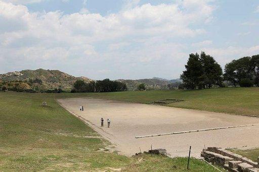 Olympian stadionilla alkuun lajina oli juoksu, myöhemmin viisiottelu.