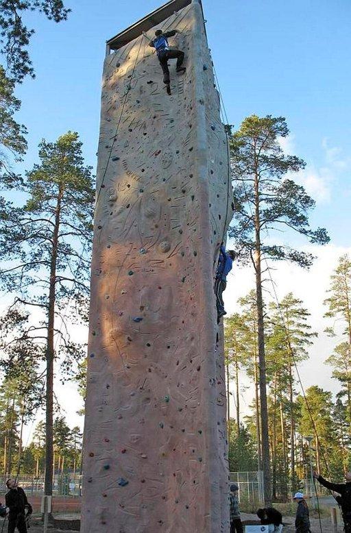 Kuortaneen kiipeilyseinä on 13 metriä korkea.