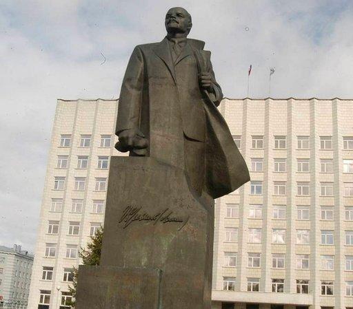 Leninin patsas vuodelta 1988 oli viimeinen Neuvostoliiton aikana pystytetty.