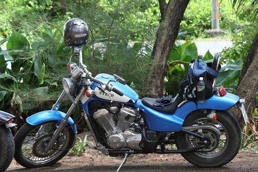 Thaimaassa tyypillinen pyörämalli.