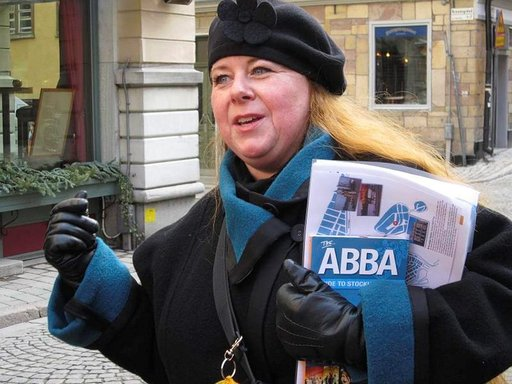 Sara Claesson Tukholman kaupunginmuseosta uskoo Abba-kävelyjen suosioon.