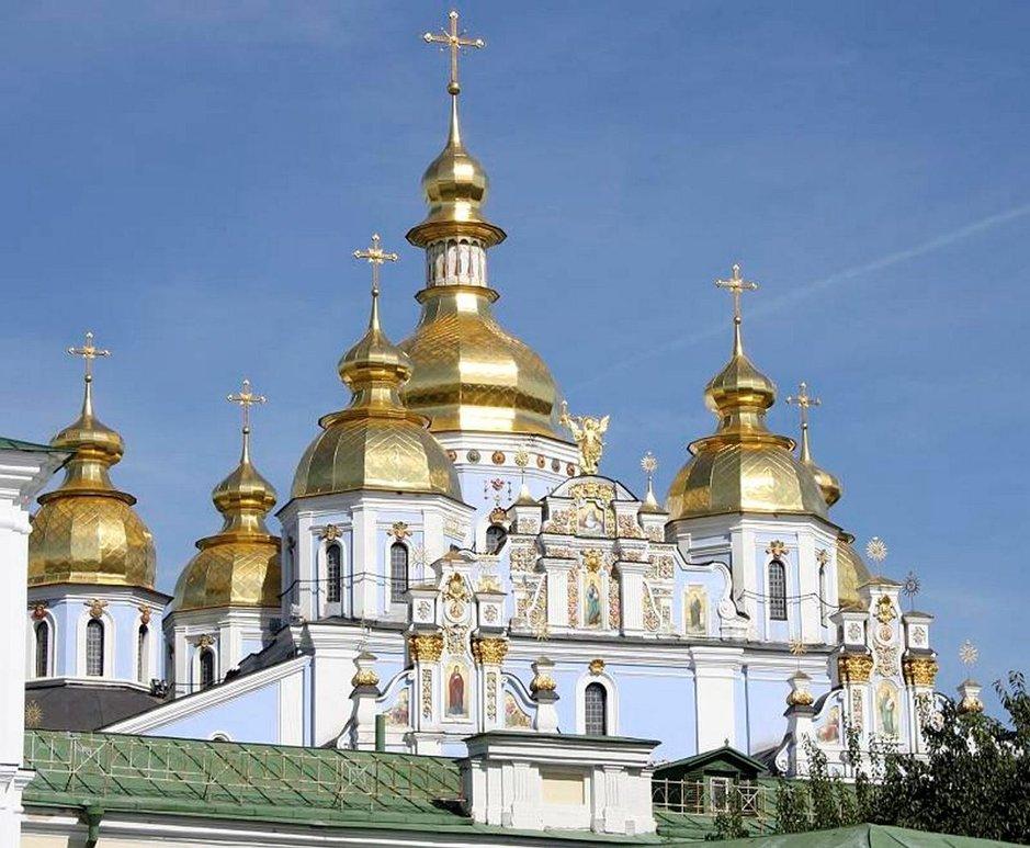 Mikaelin katedraali Kiovan keskusstassa.