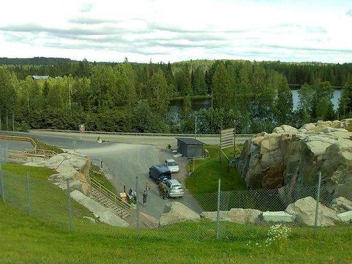 Kallioplanetaarion päältä avautuu keskisuomalainen järvimaisema.