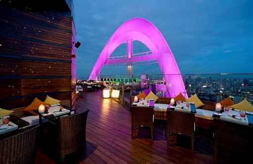 Centara Grand -hotellin 55. kerroksesta näkyy koko Bangkok.