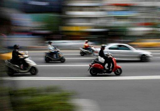 Taiwanissa on eniten skoottereita koko maailmassa.