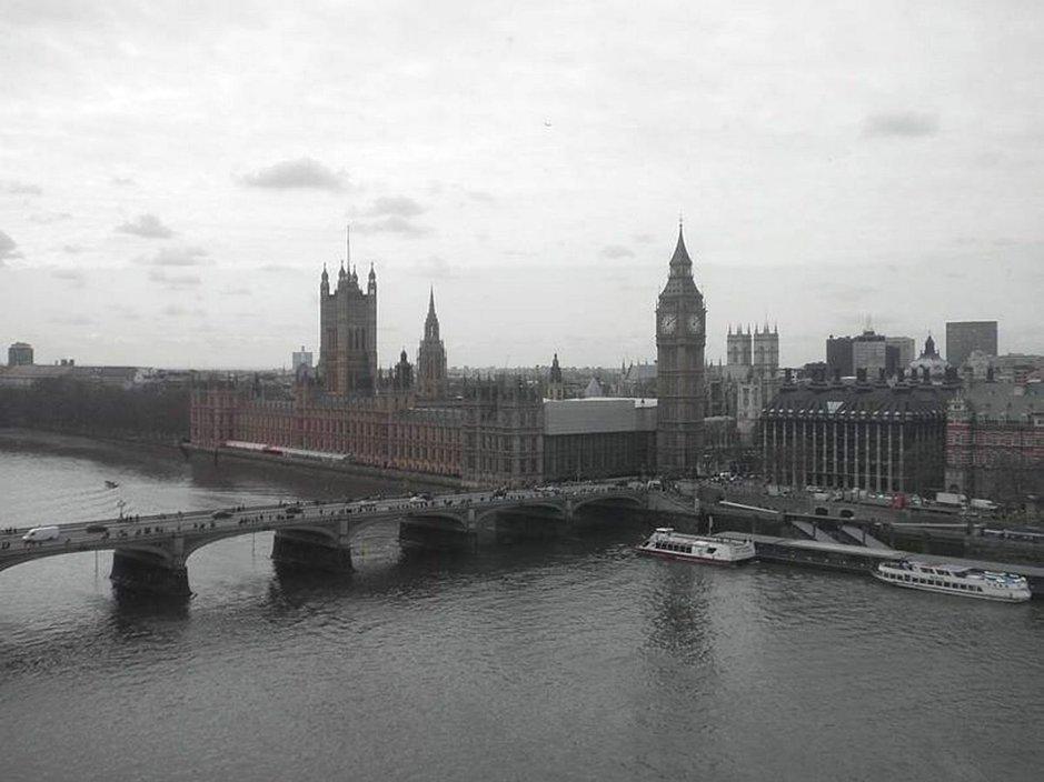 Westminster Abbey ja Big Ben.