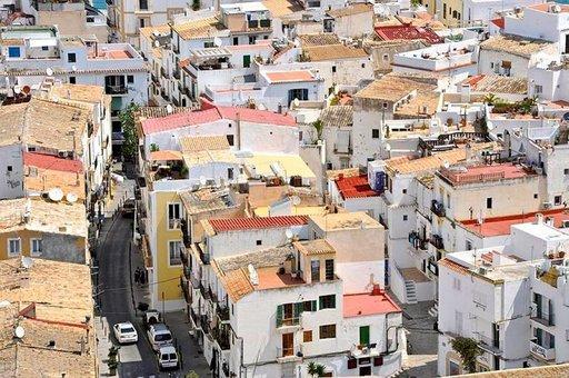 Ibiza Townin Vanhakaupunki on rakennettu 1500-luvulla.