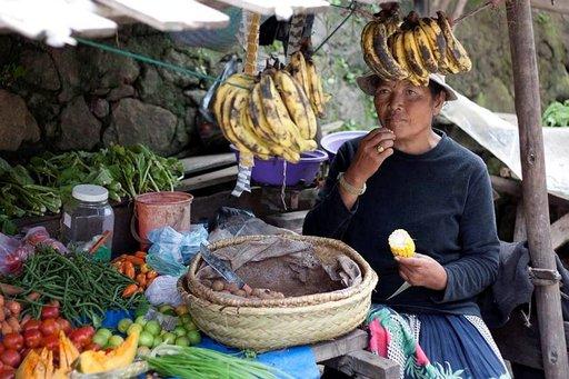 Kauppias Antananarivossa.