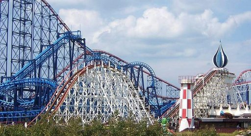 Ei ole vaikea arvata, mistä Blackpool Pleasure Beach on tunnettu.
