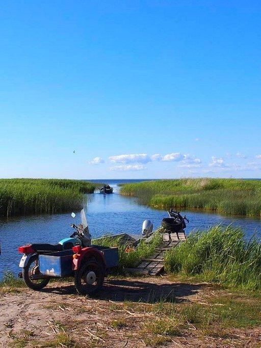 Kätevä menopeli vaikka kalojen kuljetukseen.