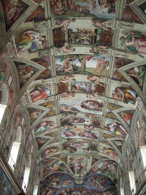 Sikstuksen kappelin maalaukset ovat varsin inspiroivia ja kuuluvat Vatikaanin parhaimmistoon.