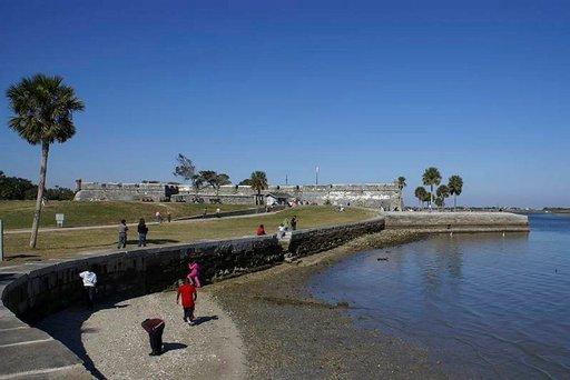 Espanjalaisten 1600-luvulla rakentama Castillo de San Marcosin eli Fort Marionin linnoitus St. Augustinessa.