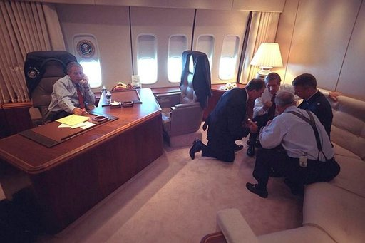 Air Force Onessa oli terrori-iskujen jälkeen intensiivinen tunnelma. Photo: George W. Bush Library