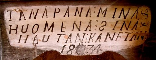 """""""Tänään minä, huomenna sinä, hautaan kannetaan"""", on kirjattu ruumiinkantopaareihin vuodelta 1834."""
