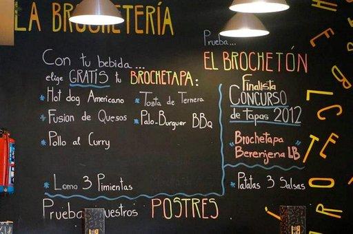 La Brocheterían nuorekas ja urbaani imago näkyy myös ravintolan sisustuksessa.