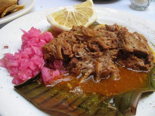 Cochinita pibil on suosittu ruokalaji.